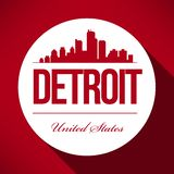 Vector Detroit Skyline Design vector illustration