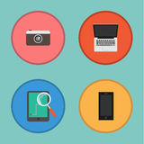 Vector of Device icon set Royalty Free Stock Photography