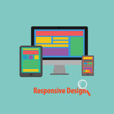 Vector of Device Responsive design Stock Photography