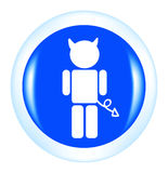 Vector devil button Royalty Free Stock Photo