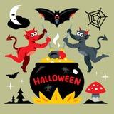 Vector Devils kitchen Cartoon Illustration. Stock Photo