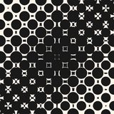 Vector diagonal gradient halftone pattern with morphing geometric shapes, circles and squares. Vector diagonal halftone pattern with morphing geometric shapes Stock Photography