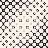 Vector diagonal halftone pattern with morphing geometric shapes. stock illustration