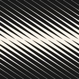 Vector diagonal halftone stripes seamless pattern, slanted parallel lines. Geometric monochrome texture with gradient transition effect. Abstract modern repeat Stock Photo