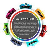 Vector diagram chart background with seven levels. Vector diagram chart background with seven color levels Stock Images
