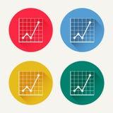 Vector diagram icon set Stock Photography