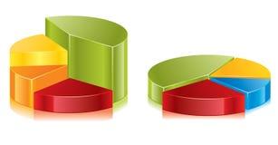 Vector diagramas circulares ilustração do vetor
