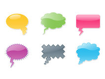Vector dialog bubbles symbol. A variety of colors dialog bubbles ,Increased by Adobe Illustrator EPS 8.0 Vector Format Stock Photos