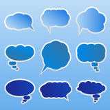 Vector Dialog clouds Stock Photo
