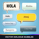 Vector Dialogue Bubbles Stock Photo