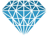 Vector diamond Royalty Free Stock Images