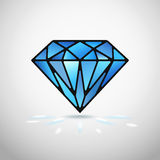 Vector diamond. Abstract diamond icon or symbol vector illustration stock illustration