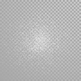 Vector diamond glitter sparkles splatter Stock Image