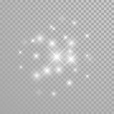 Vector diamond glitter sparkles splatter Royalty Free Stock Photography