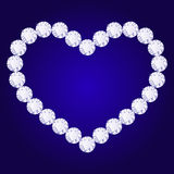 Vector diamond heart Royalty Free Stock Photography