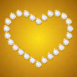 Vector diamond heart Stock Images