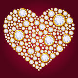 Vector diamond heart Royalty Free Stock Image