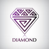 Vector diamond icon Stock Images