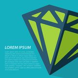 Vector diamond icon. Eps10. Vector isolate blue flat diamond icon with text. Eps10 Stock Photography