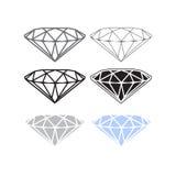 Vector diamond Stock Image