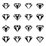 Vector Diamond icon set Stock Image