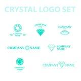 Vector diamond logo set. Stock Image
