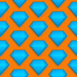 Vector diamond seamless pattern Stock Images