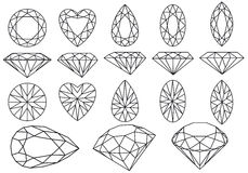 Vector diamond set Royalty Free Stock Photography