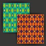 Vector Diamond Shape Seamless Pattern con efecto del sello de la hoja de oro Foto de archivo libre de regalías