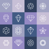 Vector diamonds and gems Stock Photos