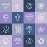Vector diamonds and gems Stock Photos