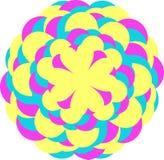 Vector dibujado flores Impresión floral brillante para las camisas Imágenes de archivo libres de regalías