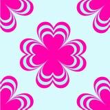 Vector dibujado flores Impresión floral brillante para las camisas Imagenes de archivo
