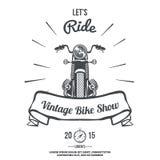 Vector dibujado mano de la bici del motor del vintage Fotos de archivo