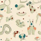 Vector dibujado ropa Textura inconsútil Fotografía de archivo libre de regalías