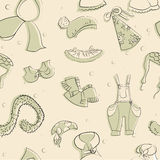Vector dibujado ropa Textura inconsútil Foto de archivo libre de regalías