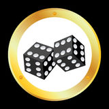 Vector Dice. Vector design for two dices Royalty Free Stock Image