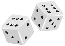 Vector dice Royalty Free Stock Images