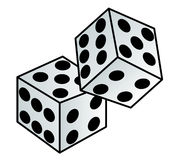 Vector - Dice. Dice elements stock illustration