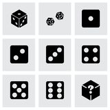 Vector dice icon set Stock Photos
