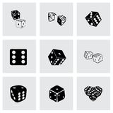 Vector dice icon set Stock Photography