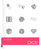 Vector dice icon set Royalty Free Stock Photo