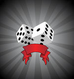 Vector dices. Illustration background wallapaper Royalty Free Stock Image