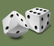 Vector dices Royalty Free Stock Photo