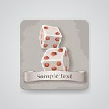 Vector dices icon Royalty Free Stock Images