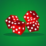 Vector dices illustration stock photography