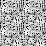 Vector dices pattern Royalty Free Stock Images