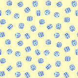 Vector dices - seamless pattern Stock Images