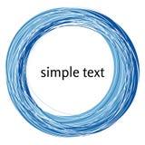 Vector die abstrakte blaue Strudelform, die auf weißem Hintergrund lokalisiert wird Stockfotos