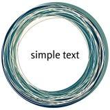 Vector die abstrakte dunkelblaue Strudelform, die auf weißem Hintergrund lokalisiert wird Stockfotografie